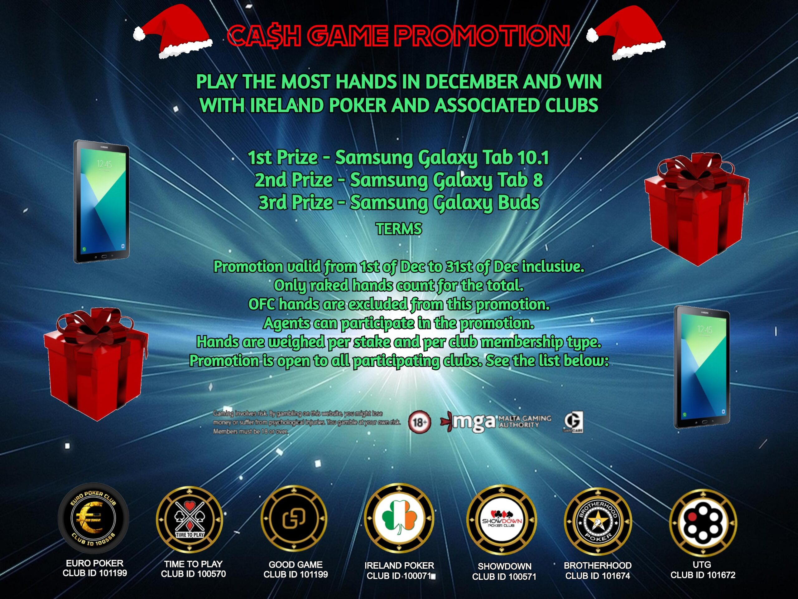 Christmas Cash Game Promotion